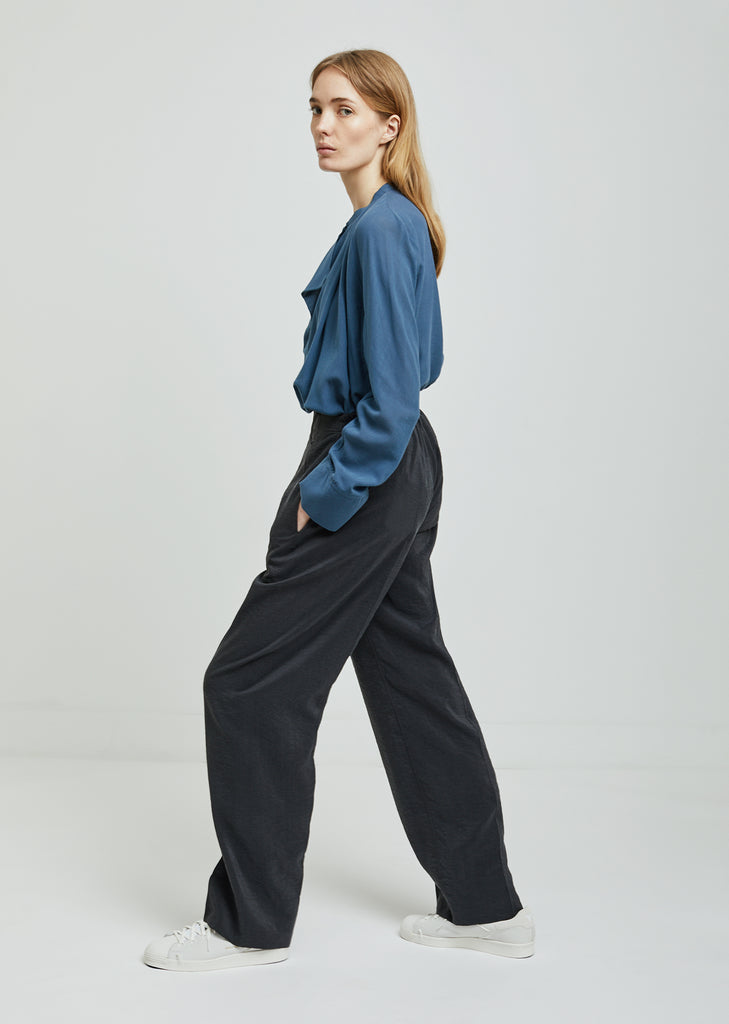 Long Elasticated Dry Silk Pants