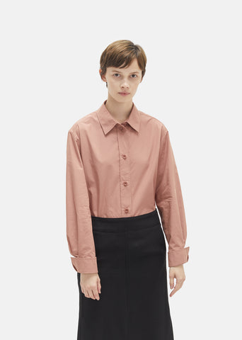 Heavy Cotton Pointed Collar Shirt