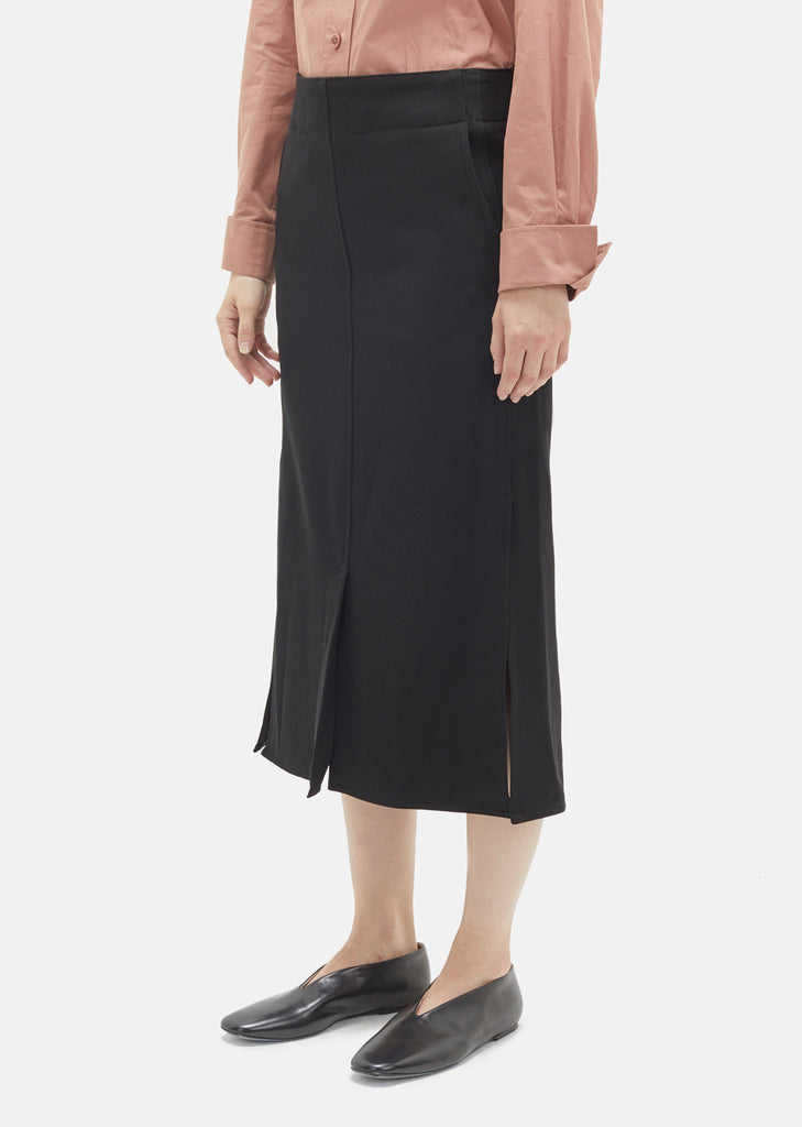 Wool Gabardine Straight Skirt