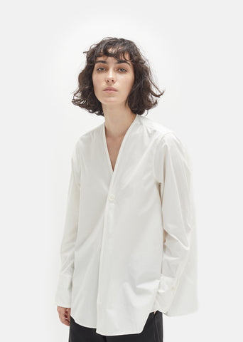 Cotton Wrap Over Shirt