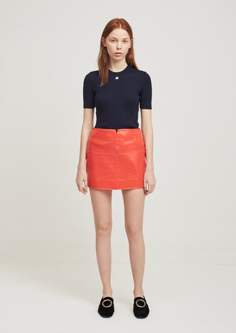 Swallows Vinyl Mini Skirt