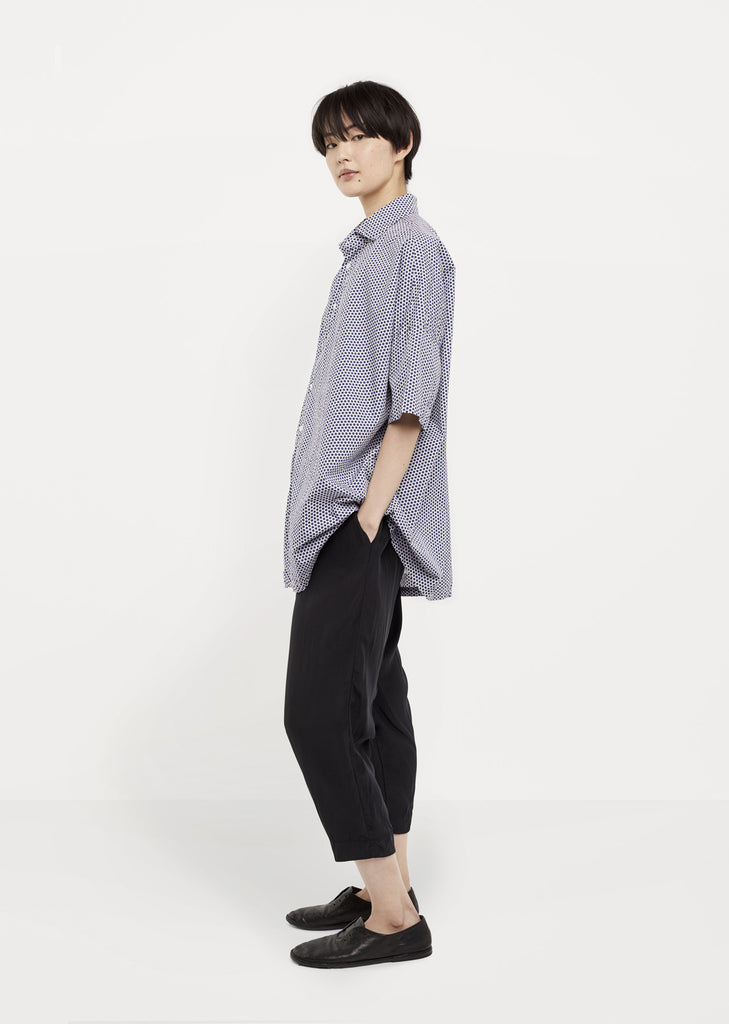 Cropped Silk Drawstring Pant