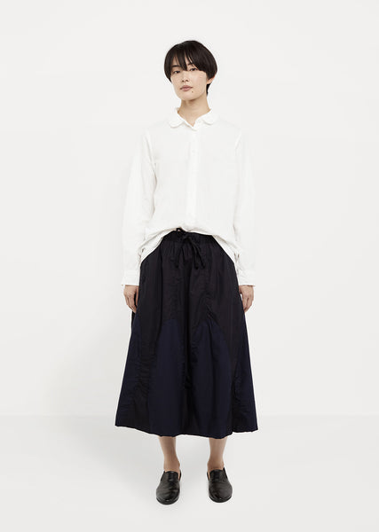 Cotton Poplin Drawstring Skirt