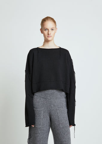 Knitted Patch Wool Sweater
