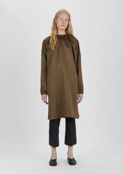 Elastic Collar Long Tunic