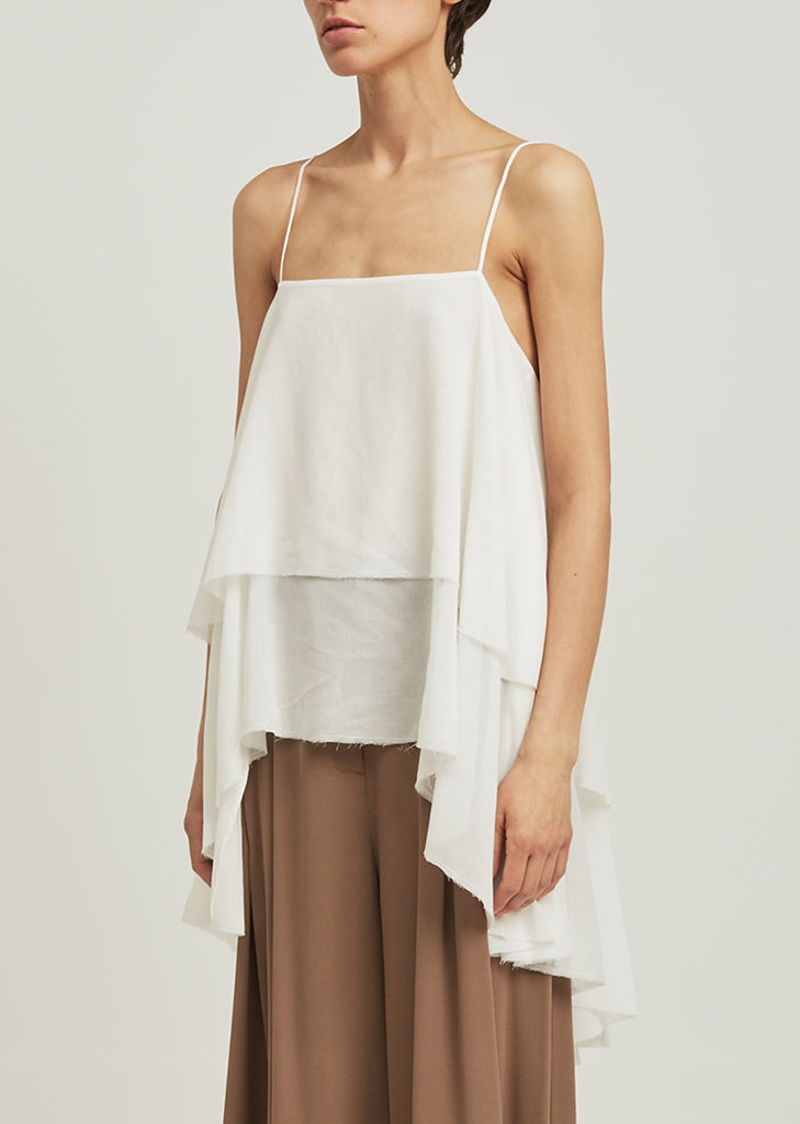 Cotton Voile Layered Top