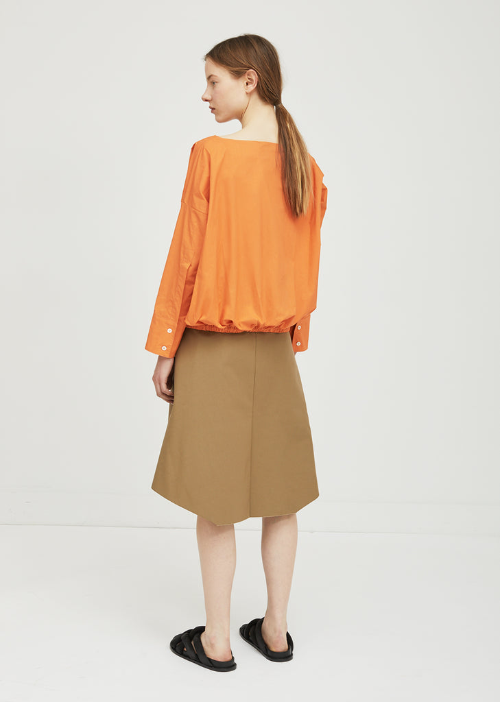 Cotton Boatneck Blouse