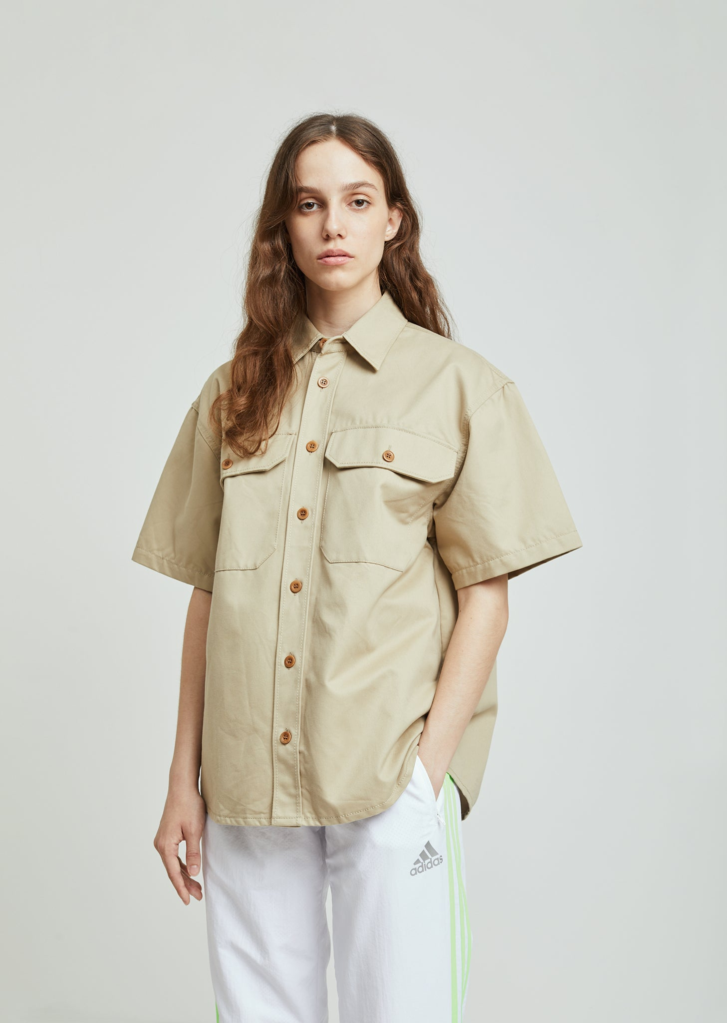 633e981d933f7 Washed Cotton Short Sleeve Shirt by Gosha Rubchinskiy– La Garçonne