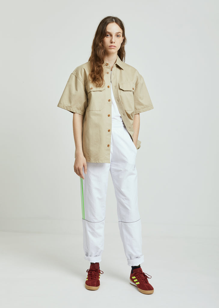 Washed Cotton Short Sleeve Shirt