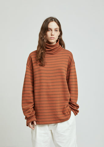 Striped Turtleneck Longsleeve T-Shirt