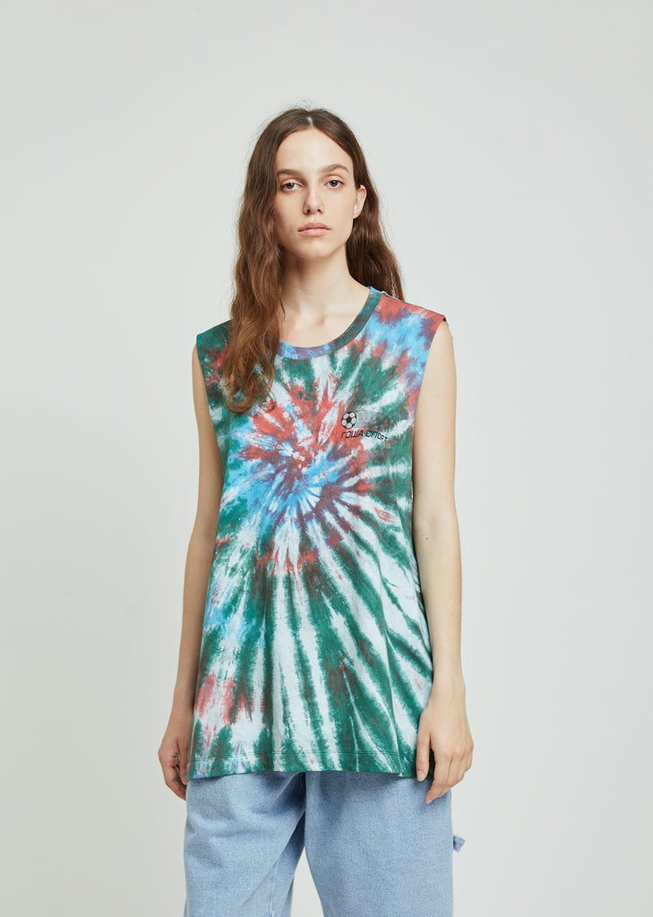 Alien Tie Dye Oversized Tank Top