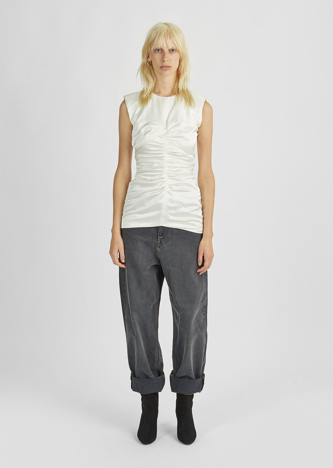 Ezer Ruched Sleeveless Top
