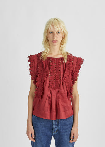 Nandy Lace Embroidered Top