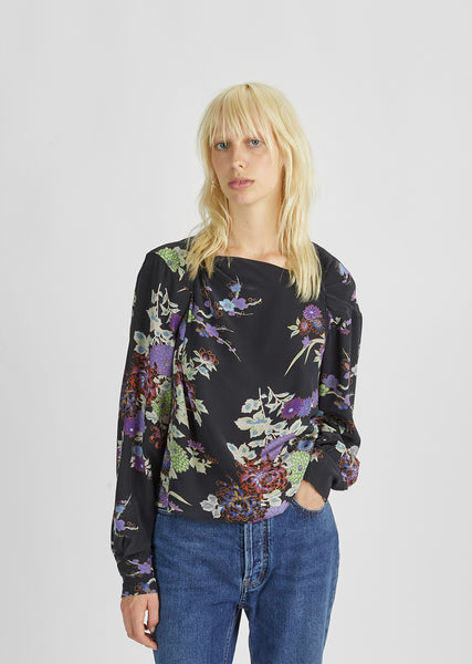 Ioudy Printed Silk Blouse