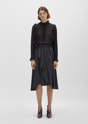 Mewina High Waisted Wool Wrap Skirt