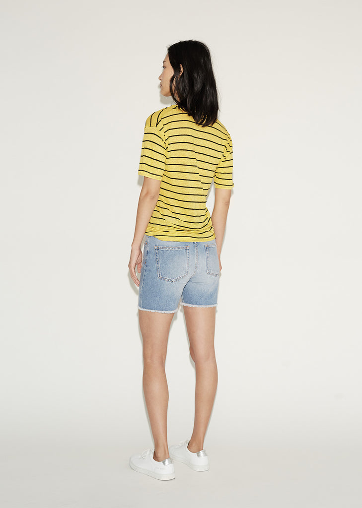 Andreia Striped Linen Tee