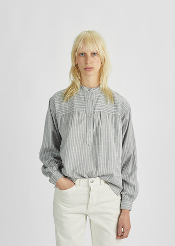 Only Vintage Striped Henley Blouse