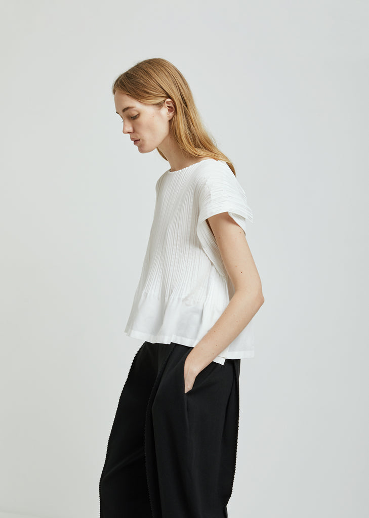 Frame Pleats Top