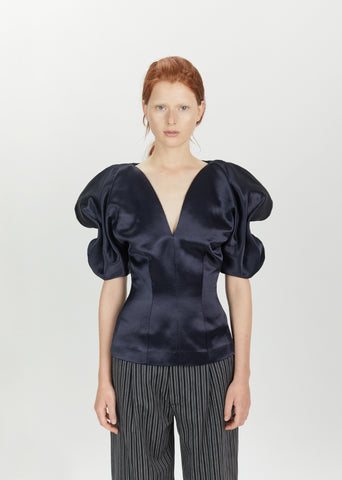 Blue Night Peplum Blouse