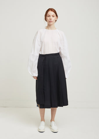 Earth Detail Pleated Skirt