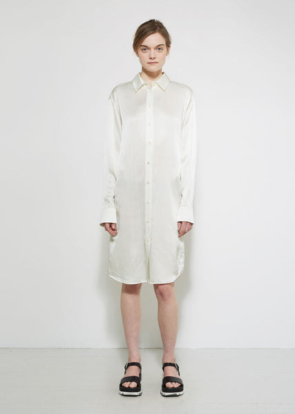 Jil Sander Amarillo Silk Shirt Dress La Garconne
