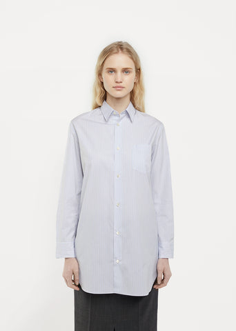 Cotton Poplin Stripe Shirt