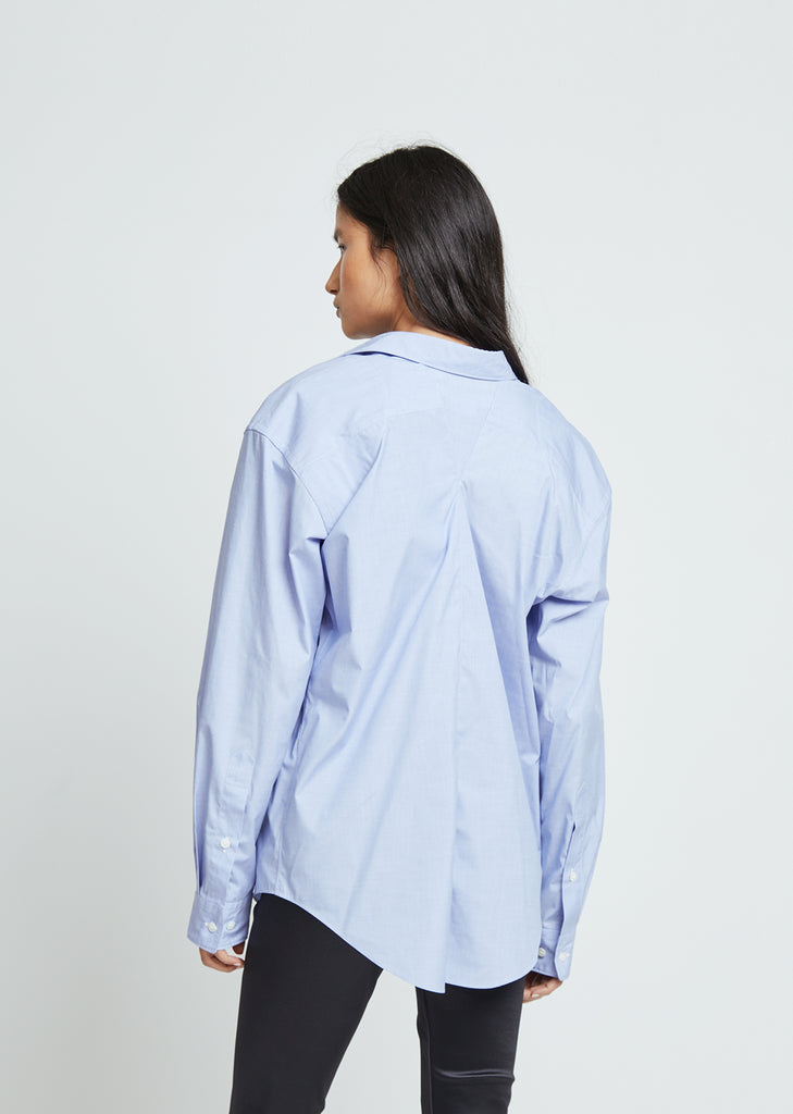 Polyester Cotton Chambray Top
