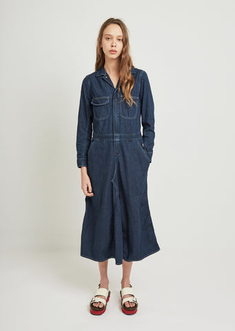 Denim All In One Dress