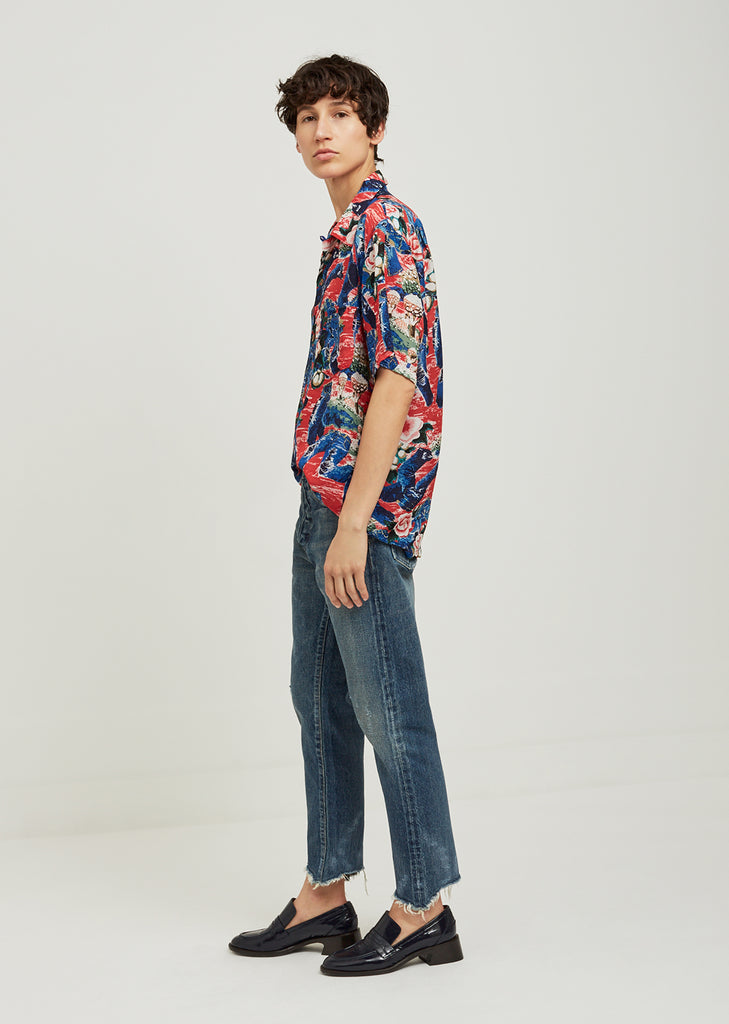 Crash Print Aloha Shirt