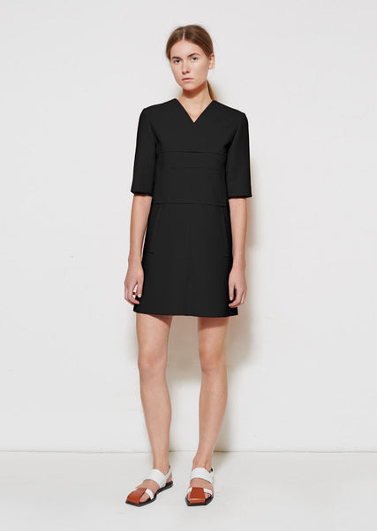 Marni V-Neck Shift Dress La Garconne