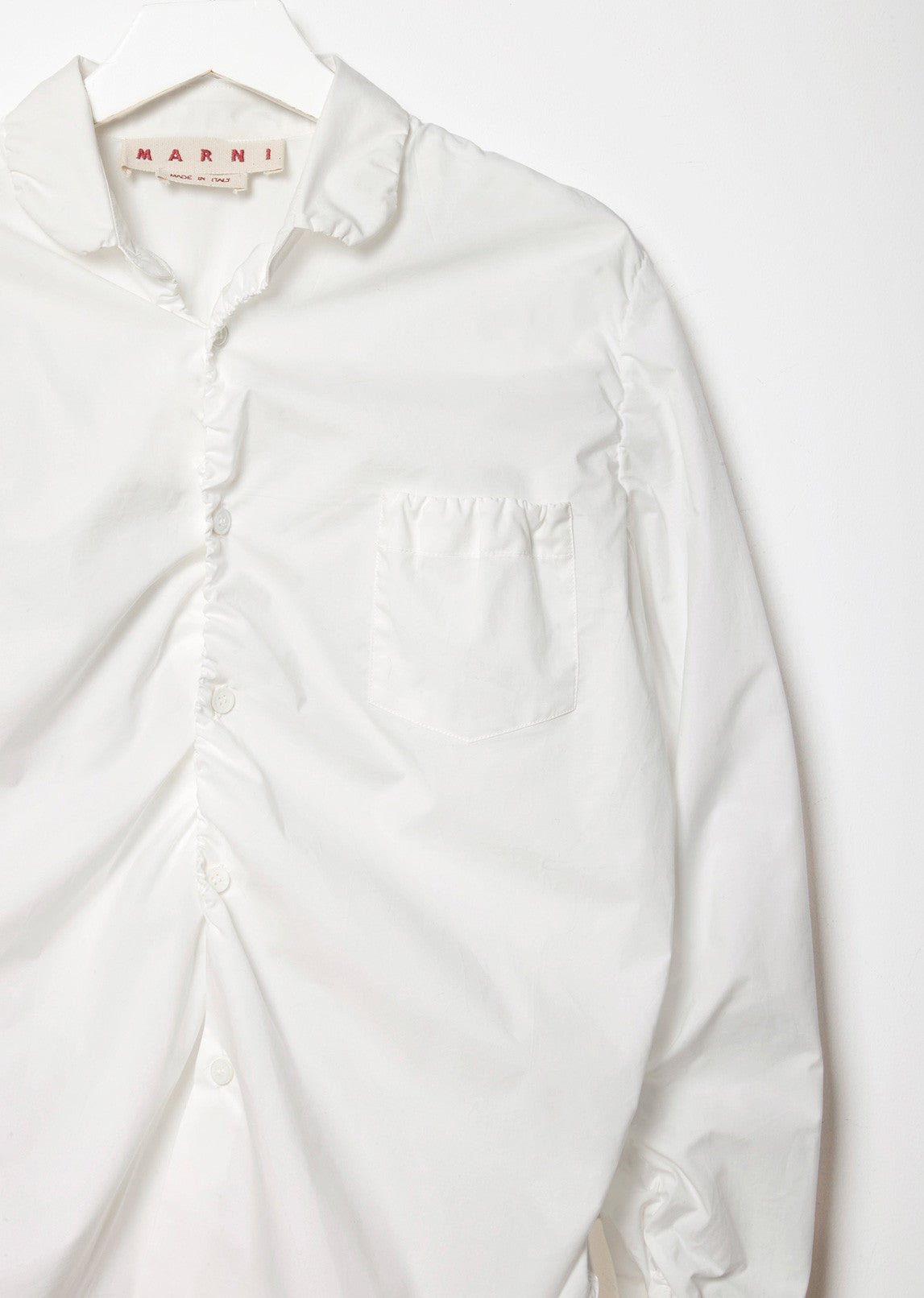 Ruched Poplin Shirt