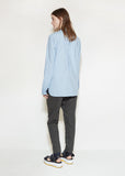 Gathered Poplin Blouse