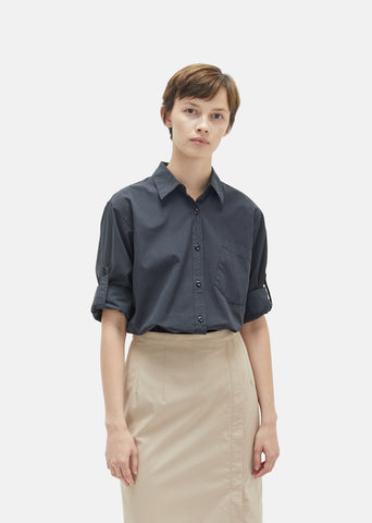 Compact Cotton Poplin Shirt