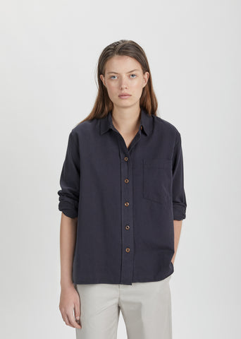 Cotton Twill Pocket Shirt