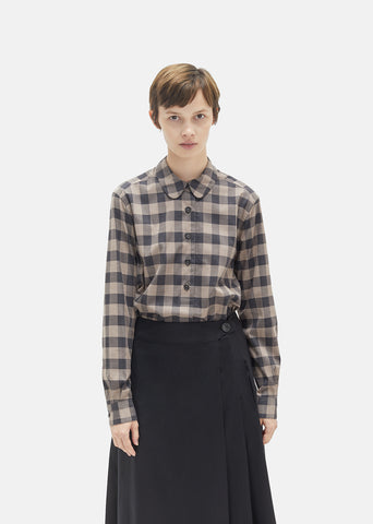 Large Gingham Cotton Shirt