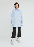 Cotton Poplin Button Front Shirt
