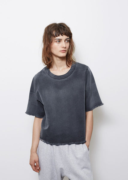 MM6 Maison Margiela Stone Washed Denim Top La Garconne