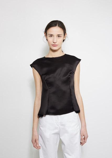 Maison Margiela Sleeveless Satin Top La Garconne