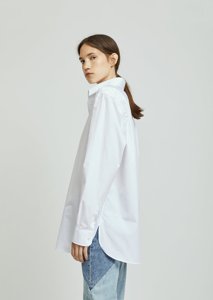 Oversized Poplin Button Down Shirt
