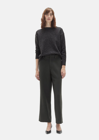 Wool Tricotine Wide Leg Pant
