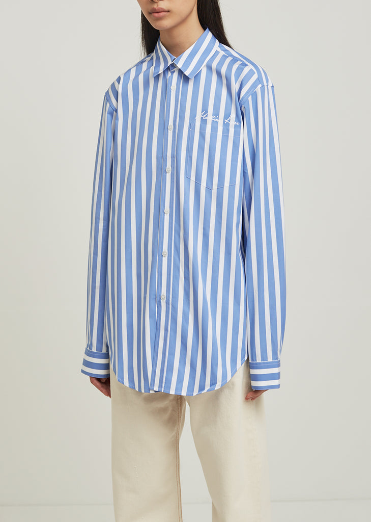 Classic Long Sleeve Stripe Shirt
