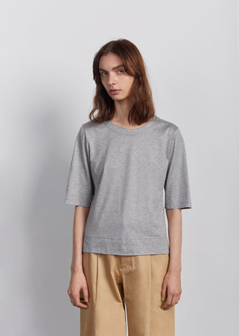 Jersey Cotton Scoopneck Tee