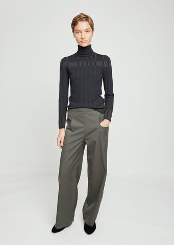 Pezinoky Light Wool Wide Leg Pants