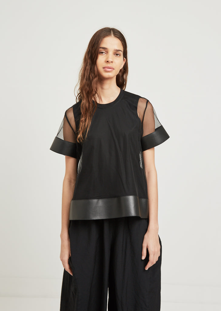 Mesh Short Sleeve Layer Top