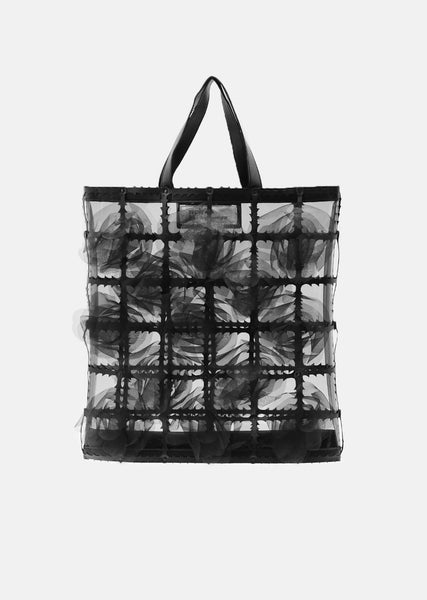 Flower Motif Organdy Tote Bag