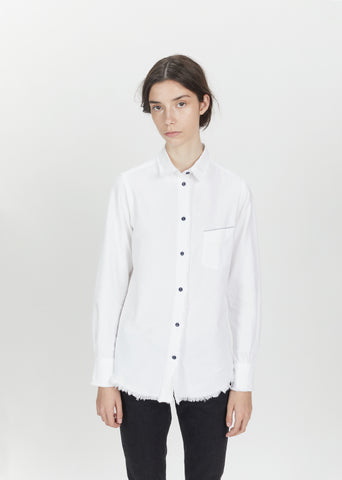 Benoit Raw Edge Cotton Shirt