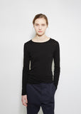 Long Sleeve Shirttail Tee