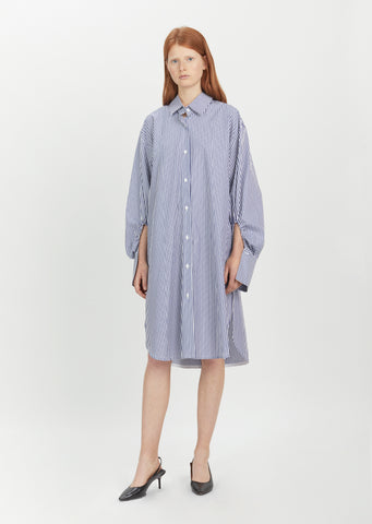 Polar Cotton Stripe Shirtdress