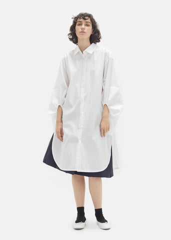 Polar White Poplin Shirt Dress