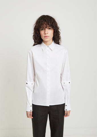 Snap Button Sleeve Shirt